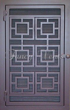 I want this for my new bedroom! Fence Wall Design, Window Grill Design Modern, Grill Door Design, Wooden Door Design, Window Design, Iron Gate Design, Iron Decor, Vent Covers, Welcome Signs Front Door