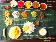 Desi Fiesta : Ona sadya / Onam sadya / Kerala Onam Banquet