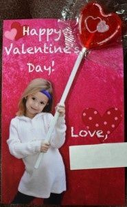 Valentines Day Lollipop Card
