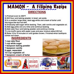 This MAMON RECIPE is one of my favorite Filipino desserts. Mamon is a very soft…