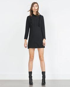 ZARA - NEW IN - DRESS WITH RUFFLES
