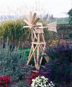 Amish Pine Outdoor Garden American Windmill