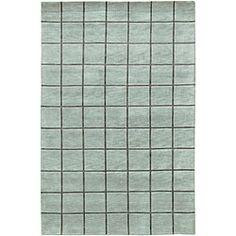 Hand-knotted Mandara Blue Wool Rug (5' x 7'6)