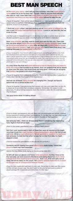 writing a best man speech for brother Speech writing Pinterest - demonstration speech example template