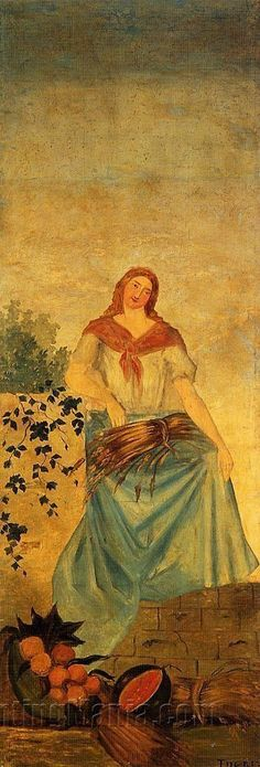 The Four Seasons, Summer by Paul Cezanne