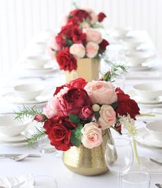 Get Creative With Vases Misc Rose Centerpieces Gold Vase