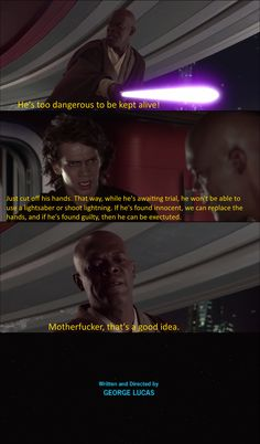 Anakin and Mace Windu discuss what to do with Palpatine meme