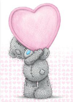 baby teddy bear Tatty Teddy with pink heart Teddy Images, Teddy Bear Pictures, Cute Images, Cute Pictures, Baby Teddy Bear, Cute Teddy Bears, Watercolor Card, Teddy Beer, Love Bears All Things