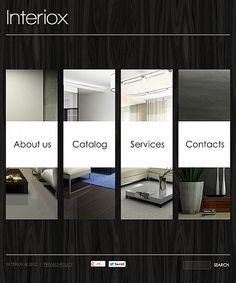 Furniture Design Templates template 41937 - single page interior design website template