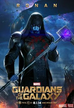 "Marvel's ""Guardians of the Galaxy"" Poster featuring Ronan (Lee Pace) one of my favourite marvel characters"