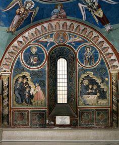 Florentius attempting to poison St Benedict fresco