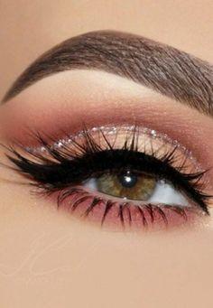 Eye Makeup Steps, Makeup Eye Looks, Eye Makeup Art, No Eyeliner Makeup, Makeup For Brown Eyes, Light Makeup Looks, Eyeshadow For Brown Eyes, Blue Makeup, Eyeshadow Looks