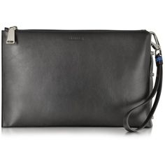 Jil Sander Edgy Black Leather Pouch