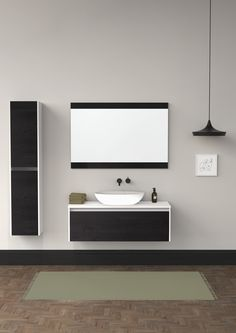 The contemporary bathroom furniture in the LeVivi Capri collection is available in single colour or contrasting cabinetry, handles, or basin shape which can be tailored to match your bathroom style and colour palette.