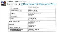 Note cover Sanremo 2016 | Giancarlo Leone rivela l'elenco