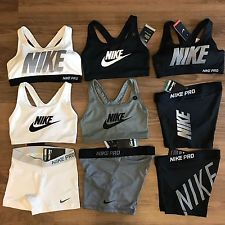 7a72e5d6af09c Nike Pro Shorts   Nike Sports Bra Exploded Nike Logo NWT - Each Sold  Separately Nike