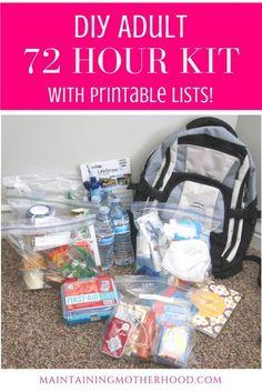 Emergency Go Bag, 72 Hour Emergency Kit, Emergency Preparedness Food, Emergency Binder, 72 Hour Kits, Emergency Preparation, Emergency Supplies, Survival Prepping, Survival Skills