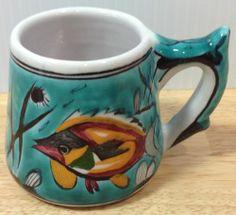 Ikaros Pottery Fish Cup Mug Rhodes Greece Handpainted Colorful Glaze Green Aqua Greek Art, Mug Shots, Rhodes, Greece, Addiction, Green Aqua, Pottery, Hand Painted, Fish