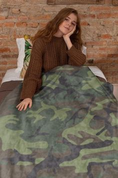 Personalized Camo Camouflage Hunting Blanket Baby Newborn Infant 30 x 36 Blanket