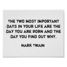 Life Mark Twain Quote Poster