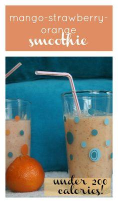 Mango-Strawberry-Orange Smoothie