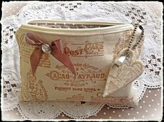French shabby pouch