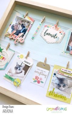 Scrapbook frame to give as a gift. Diy And Crafts, Arts And Crafts, Paper Crafts, Scrapbook Albums, Scrapbook Paper, Scrapbook Frames, Photo Deco, Frame Crafts, Photo Craft