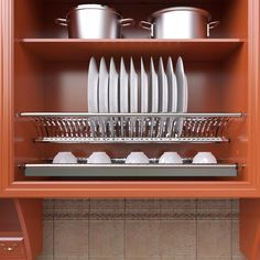 VADANIA Stainless Steel Cabinet Dish Drying Rack, Plate Storage Organizer, Dish Drainer, Cabinet Plate Holder for Wide Cabinet Cupboard Shelves, Shoe Storage Cabinet, Kitchen Storage, Storage Racks, Diy Kitchen Cabinets, Kitchen Dishes, Kitchen Ideas, Space Kitchen, Kitchen Inspiration