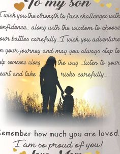 Son Birthday Quotes From Mom Elegant Love My son Mother son Bond Son Birthday Quotes, Sons Birthday, I Love My Son, Love You, Mother Art, Take Risks, Listening To You, Bond, Challenges