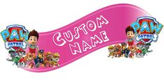 Paw Patrol Room Decor Wall Banner - Custom Name (Pink) -- Click image for more details. (This is an affiliate link and I receive a commission for the sales)