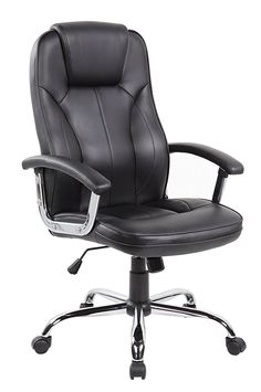 Anji High Back Big and Tall PU Leather Executive Office Desk Chairs with Padded Arms and Lumbar Support Black * Check out the image by visiting the link.