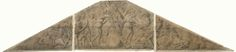 Artus Quellinus (I) | Ontwerp voor beeldengroep in timpaan met allegorie op Amsterdam, Artus Quellinus (I), Daniel Stalpaert, 1646 - 1650 | Ontwerp voor een beeldengroep in een timpaan met allegorie op Amsterdam als middelpunt van de handel.