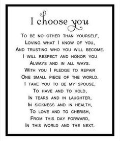 I choose you...