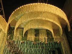 Wedding in Kerala - small fragrant white flowers suspended on strings. Wow