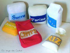 Dînette feutrine farine sucre lait riz chips Au pays des Cactus 1