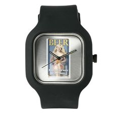 BEERLOVE Watch on CafePress.com #Watches #Watch #Beer #Alcohol #God #pinup #1950s #50s #party #clock #clocks #Watches #classic #design