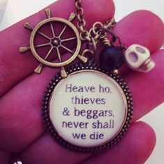 Pirates of the Caribbean necklace  by 2tinyhearts on Etsy, $26.00