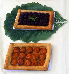 Two tarts from The Art of the Tart at Millbrook farmers market.  @DutchessTourism