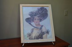$41.90 ✿   bluefolkhome on etsy ✿  Shabby Chic Framed Print Victorian Lady Cream by bluefolkhome