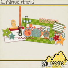{Boy}sterous #freebie element pack from BZB Designs #scrapbook #digiscrap #scrapbooking #digifree #scrap