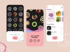 Smoothies iOS App by lia_eye_ for Fireart Studio on Dribbble Ios App Design, Ui Design, Ui Inspiration, App Ui, Smoothies, Mobile App, Banner, Marketing, Studio