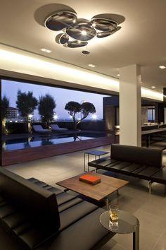A modern concrete beach house