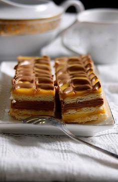 Dvojfarebné rezy by noemi Czech Recipes, Russian Recipes, Yams, Christmas Baking, No Bake Cake, Sweet Recipes, Cupcake Cakes, Nom Nom, Waffles