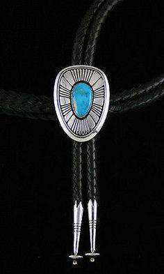 Alfred-Joe-Rare-Gem-Grade-Blue-Gem-Turquoise-Overlay-Bolo-Tie