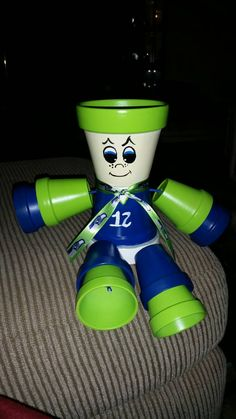 Seahawks Planter by TogetherWeShare on Etsy
