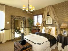 Image result for hollywood mediterranean with safari flair bedroom