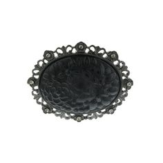 Black with Black Diamond Crystal and Black Carved Flower PinA gorgeous accessory with a vintage flair. Featuring an oval jet stone carved with an intricate floral design held in a jet-toned filigree frame. From our Signature 1928 Collection. 1920s Jewelry, Bridal Jewelry, Antique Jewelry, Vintage Jewelry, Fashion Accessories, Fashion Jewelry, Women Jewelry, Jet Stone, Black Crystals
