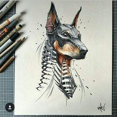 Character design doberman краски pencil drawings, draw и graphics. Animal Drawings, Cool Drawings, Drawing Sketches, Pencil Drawings, Artwork Drawings, Body Sketches, Drawing Artist, Inspiration Art, Art Inspo