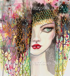 Secrets - Contemporary Fantasy Art - Woman - Watercolor Fine Art Giclee Print - 12 x 16 - Gypsy - Artwork