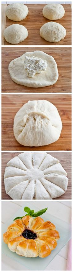 Flower Cheese Pie Ingredients:Dough:2 cups Flo... - Inspiring picture on Joyzz.com